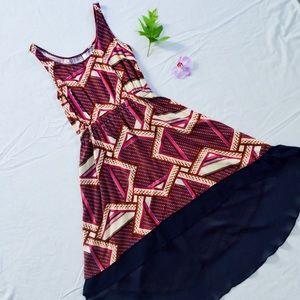 Xhilaration - Contemporary Abstract, Maxi Dress